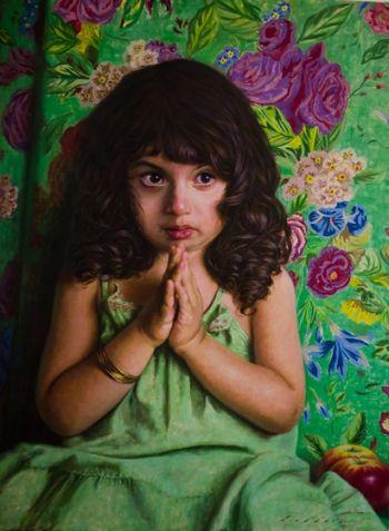 "Title: ""Helia"". Artist: Hamid Abbasi. Subject: Helia Abbasi"