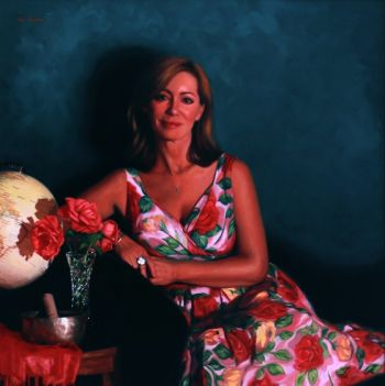 Title: Coming Up Roses, Portrait of Kerry Armstrong. Artist: Vicki Sullivan. Subject: Kerry Armstrong.