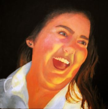 Artist: Kaela Gibb, Subject: Self portrait, Title: Inner self, Year 12