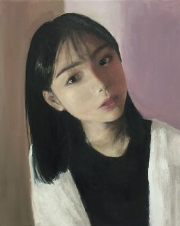 Artist: Alice Wu, Subject: Self portrait, Title: Self portrait, Year 10