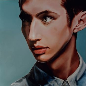 Artist: Madeline McAllan, Subject: Troye Sivan, Title: Troye, Year 10