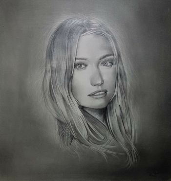 Artist: Mustafa Hidari, Subject: Gemma Ward, Title: Gemma Ward, Year 8
