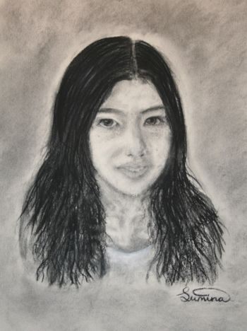 Artist: Sumina Elieff, Subject: Self portrait, Title: Sumina, Year 7
