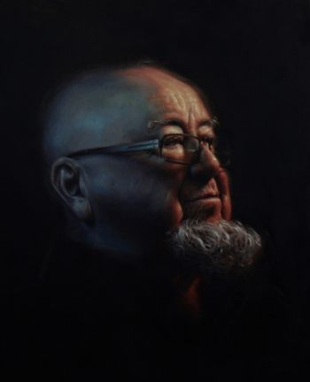 Artist: Michael Simms, Subject: Thomas Keneally, Title: Tom