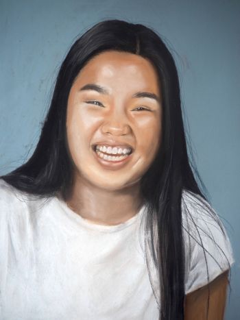 Artist: Jasmine Koong | Subject: Jasmine Koong| Title: Laugh