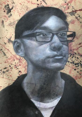 Artist: Lucas Tan   Subject: Lucas Tan  Title: Self portrait