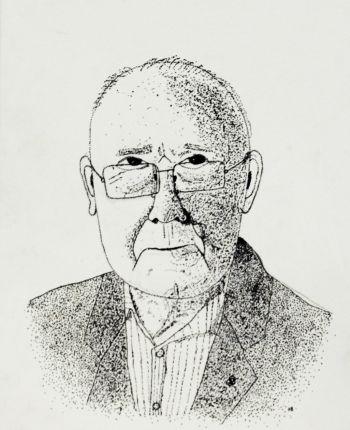 Artist: Henry Baker   Subject: Gordon Briglin  Title: Imagine what I have seen since 1919