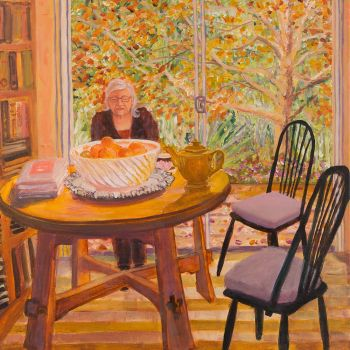 Artist: Kiata Mason | Subject: Bea Mason | Title: Autumn light