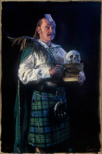 Artist: Evert Ploeg | Subject: Geoffrey McSkimming | Title: Believe then, if you please, that I can do strange things....a portrait of Geoffrey McSkimming
