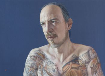 Artist: David Wells | Subject: David Wells (self portrait) | Title: Self portrait at 40
