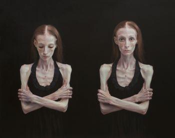 Artist: Jana Vodesil-Baruffi | Subject: Paige | Title: Black swan