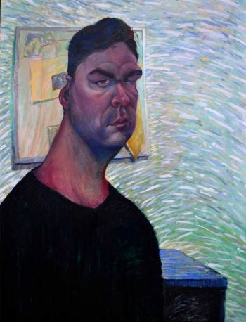 Artist: Daniel Heyman | Subject: Daniel Heyman (self portrait) | Title: Perception of self