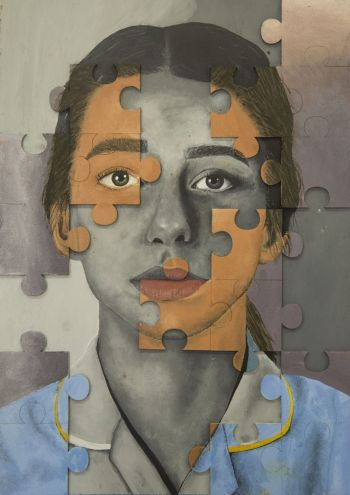 Artist: Mia Grbavac | Title: Missing Pieces | Subject: Self-portrait