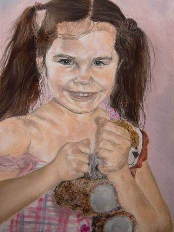 Artist: Olivia Hauser | Title: Mischievous | Subject: Isabelle