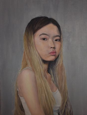 Artist: Bahji Nguyen | Title: Self-portrait at 16 | Subject: Self-portrait