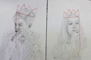 Artist: Charlotte Stapleton | Title: Dont you know your Queen? | Subject: Ben Lye and Lili Kristofich