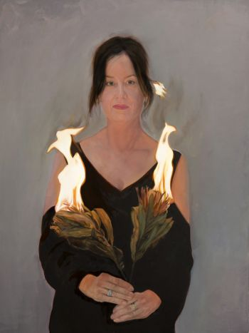 Artist: Mertim Gokalp | Title: Marie on fire | Subject: Marie Mansfield