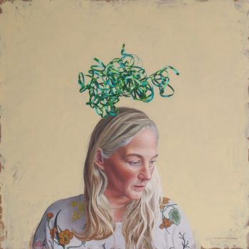 Artist: Chelsea Gustafsson | Title: A shiny mess | Subject: Self-portrait