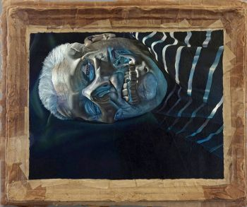 Artist: John Skillington | Title: Self-portrait (after Francis Bacon) | Subject: Self-portrait