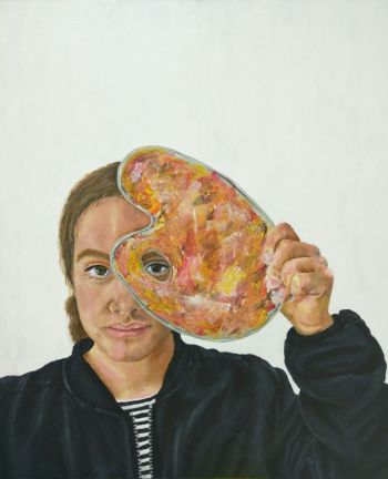 Artist: Alice Handcock | Title: An artist gaze | Subject: Self-portrait