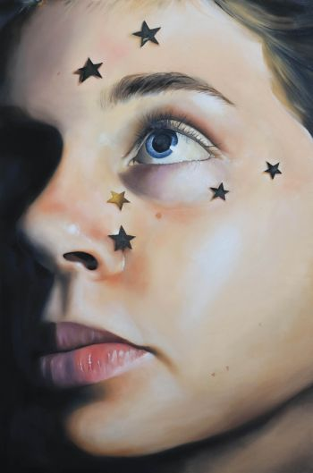 Artist: Sarah Hoey | Title: You get a gold star | Subject: Lily Beahan