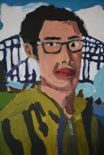 Artist: Brandon Loi | Title: I love Sydney Harbour Bridge (Self-portrait) | Subject: Self-portrait