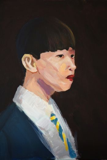 Artist: Jing Quan Ma | Title: Justin | Subject: Justin Cai