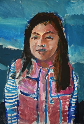 Artist: Kevin Shen | Title: My sister | Subject: Angela Shen