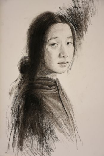 Artist: Jiaxin (Cindy) Wu | Title: My sister | Subject: (Wendy) Jianyun Wu