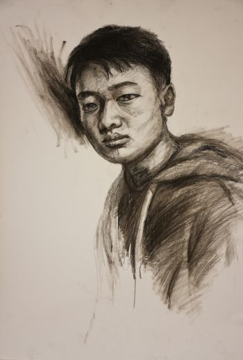 Artist: (Jason) Zi Sheng Yang | Title: Self-portrait | Subject: Self-portrait