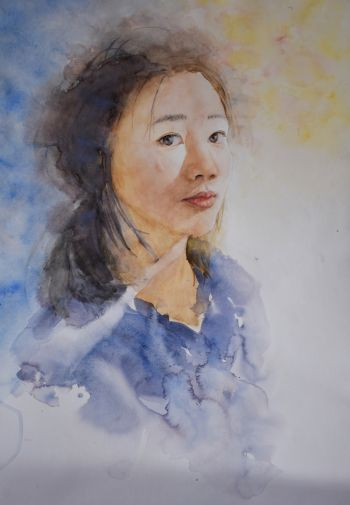 Artist: Ziqi Yang | Title: Fading out the stress | Subject: Self-portrait
