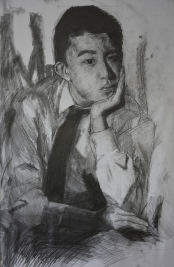 Artist: Kuan (Michael) Yu | Title: Self-portrait | Subject: Self-portrait