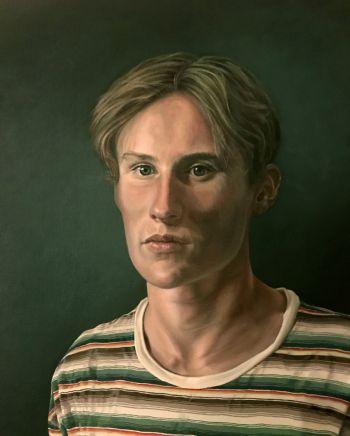 Artist: Julie-Ann Brown | Title: The burden of expectation | Subject: Callum Brown