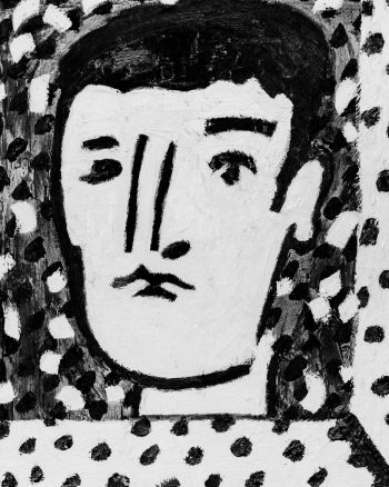 Artist: Patrick Cremin | Title: Self‐portrait with fragmented frame | Subject: Self‐portrait