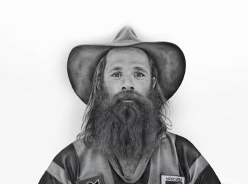Artist: Stacey Evangelou | Title: The coastal cowboy | Subject: Ben Debono