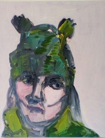 Artist: Jenni Gray | Title: The winter beanie | Subject: Self‐portrait