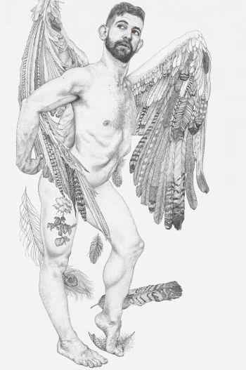 Artist: Andrew Nicholls | Title: Icarus—portrait of Thomas Worrell | Subject: Thomas Worrell