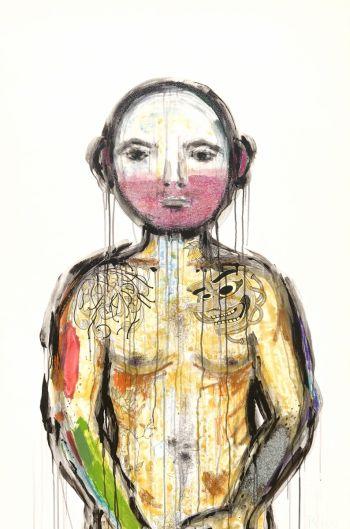 Artist: Rebecca Pierce | Title: Lang ink becomes you | Subject: Lang Pierce Harvey