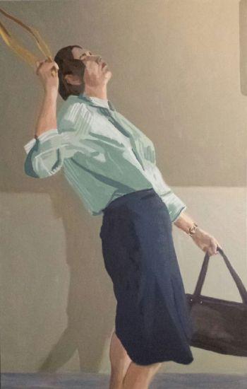 Artist: Liz Stute | Title: The commute (Self‐portrait) | Subject: Self‐portrait