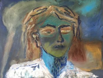 Artist: Justine Wake | Title: I had not thought of that | Subject: Self‐portrait