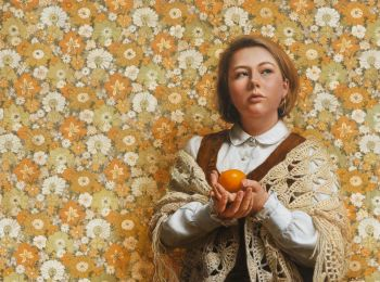 Artist: Narelle Zeller | Title: Bury me with a mandarin | Subject: Hope Jenkins