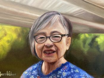 Artist: Sarah Choo | Title: Mrs Lee | Subject: Hooi Tong Lee