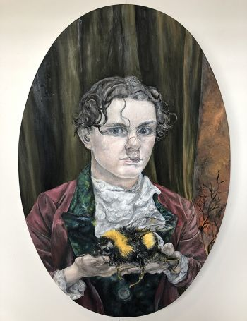 Artist: Joseph Cook | Title: Boy with insect | Subject: Self-portrait