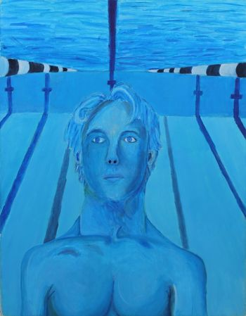 Artist: Jensen Kirby | Title: With the water | Subject: Self-portrait