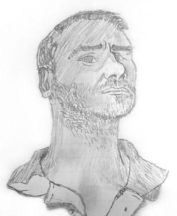 Artist: Lucinda Vidal | Title: Dad | Subject: Rodrigo Ricardo Vidal