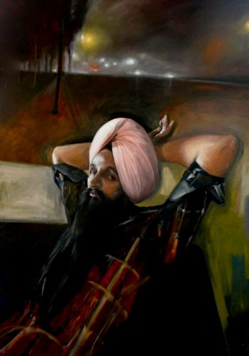 Artist: Daniel Connell | Title: Gurinderjit Singh after work | Subject: Gurinderjit Singh