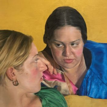 Artist: Serena Cowie | Title: The conversation | Subjects: Maria Arvanitis and Alexandra Perrott