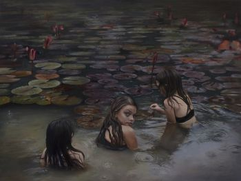 Artist: Jess Le Clerc | Title: Shadow and bloom | Subjects: Eden Le Clerc, Jewel Le Clerc and Summer Le Clerc