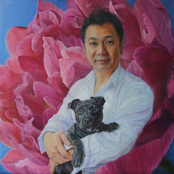 Artist: Ordella Wall | Title: Tony | Subjects: Tony Leung & Rocky