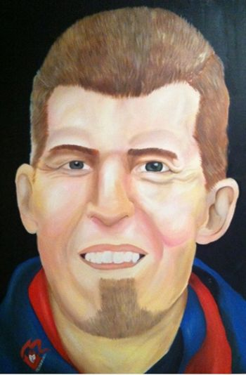 Title: Jim Stynes, Subject: Jim Stynes, Artist: Ashley Rowe